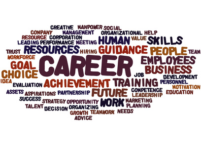 Career, word cloud concept on white background.